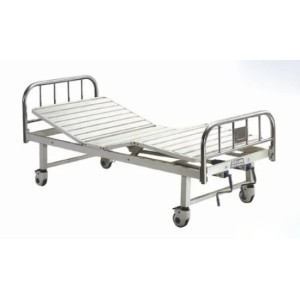 Stainless Steel, Moveable Fowler Patient Bed with Two Cranks (XH-E-3)