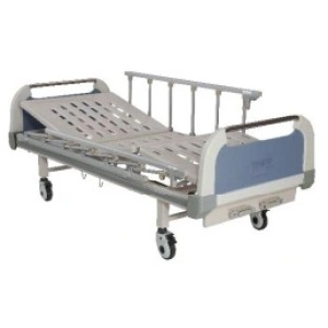 Two Cranks Manual Medical Bed with Heightened Side Rails
