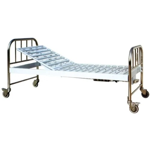 Stainless Steel Head and End Single Crank Hospital Manual Bed