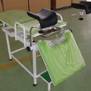 Steel Painted Material Mechanical Gynecological Delivery Bed