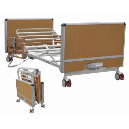 Electric Wooden Five Functions Medical Super-Low Homecare Bed (Foldable Type)