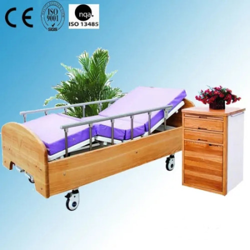 Wooden Home Care Bed with Two Cranks (XH-7)