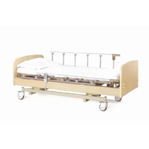 Electric Wooden Homecare Bed, Three Functions