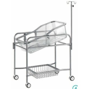 Moveable Hospital Infant Cot of Steel Painted Material