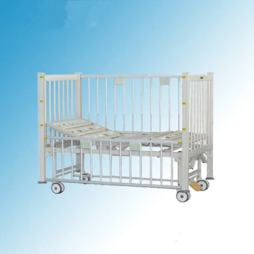 Latest Two Cranks Manual Hospital Child Bed