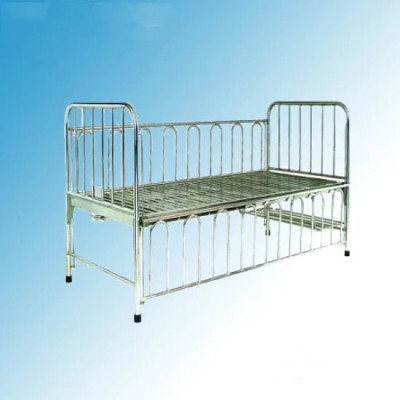 Stainless Steel One Crank Manual Hospital Medical Children Bed (D-6)