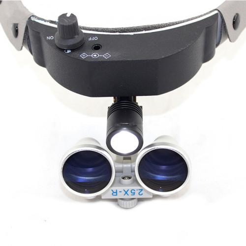 Dental Surgical Medical Binocular 2.5X Loupes+ LED Head Ligh Dental Surgica Loupe