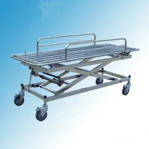 Stainless Steel Hospital Medical Height Adjustable Cart Patient Stretcher Trolley (G-6)