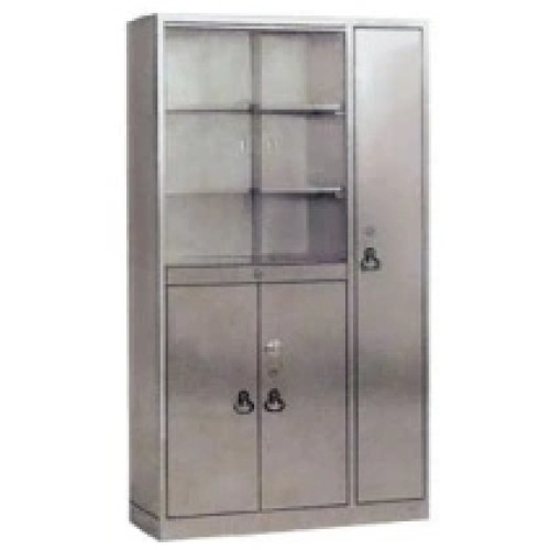 Stainless Steel Hospital Cabinet with Glass Window