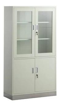 Stainless Steel 3-Door Wardobe Hospital Cabinet