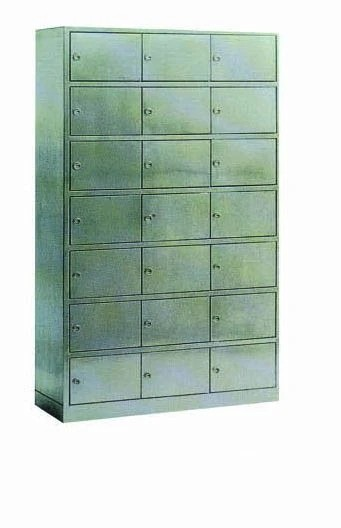 Stainless Steel Hospital Medical Cabinet for Shoes Storage (U-18)