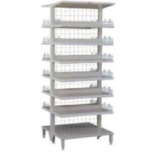White Colour Double-Side Warehouse Drug Shelves
