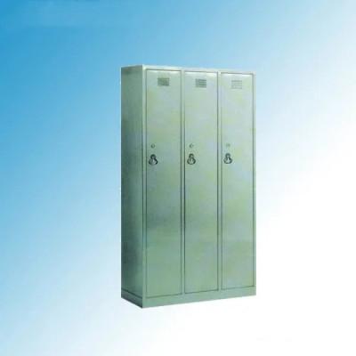 Stainless Steel Hospital Medical 3-Door Wardobe Dressing Cabinet (U-16)