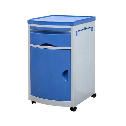Mobile ABS Material Hospital Bedside Cabinet