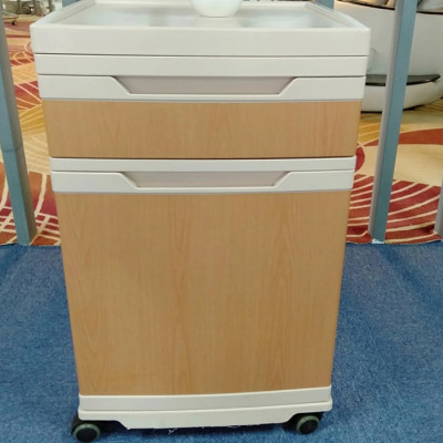 Hospital Medical ABS Bedside Cabinet with Casters
