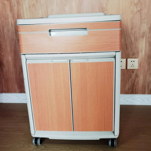 Medical Bedside Table with Two Doors