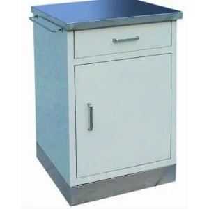 Hospital Medical Bedside Locker Equipment with Stainless Steel Top and Bottom Plates (K-7)