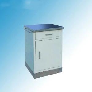 Hospital Medical Stainless Steel Top and Base Bedside Locker (K-7)