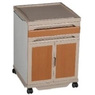 Wooden Colour Bedside Cabinet with Castors