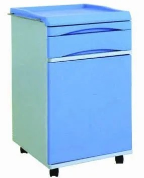 ABS Hospital Bedside Cabinet, Hospital Bed Table with Drawer (J-5)