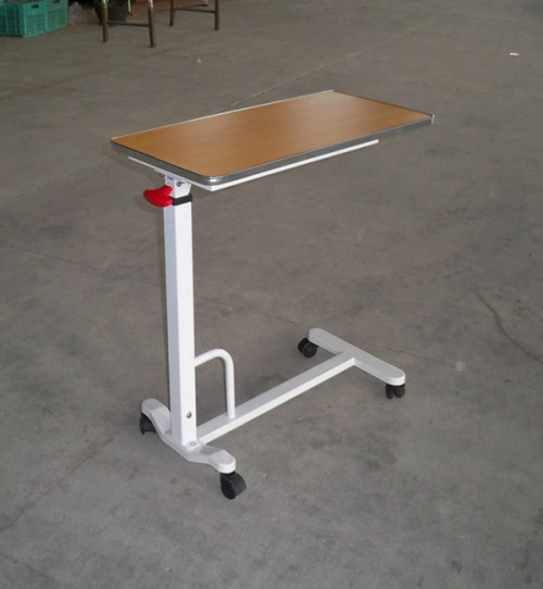 Medical Device Wooden&Steel Hospital Overbed Table