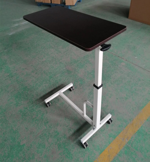 Stainless Steel Frame Hospital Over Bed Table (L-3)