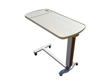 Hi-Low Adjustable Hospital ABS Overbed Table for Sickroom Use (L-7)