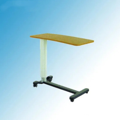 Adjustable Hospital Steel Overbed Table for Sickroom Use (L-6)