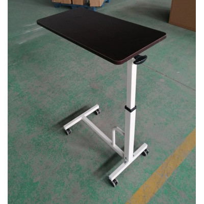 High Quality Stainless Steel Moveable Hospital Over Bed Table (L-3)