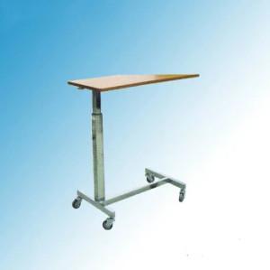 Hospital Furniture, Height Adjustable Hospital Overbed Table (L-4)
