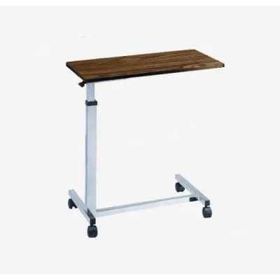 Durable Hospital Wooden Over Bed Table