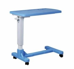Good Quality PE Plastic Table Top Height Adjustable Over Bed Table