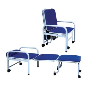 Folded Medical Accompanying Chair of Steel Painted Frame (W-2)