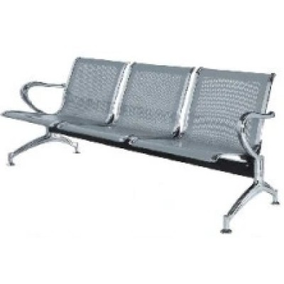 Stainless Steel Waiting Chair with Three Seats