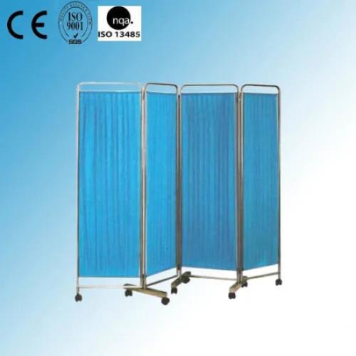 Hospital Stainless Steel Mobile Screen (4-fold)