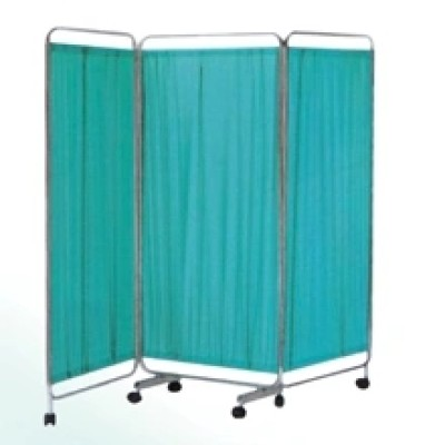 Blue Colour 4-Fold Medical Screen