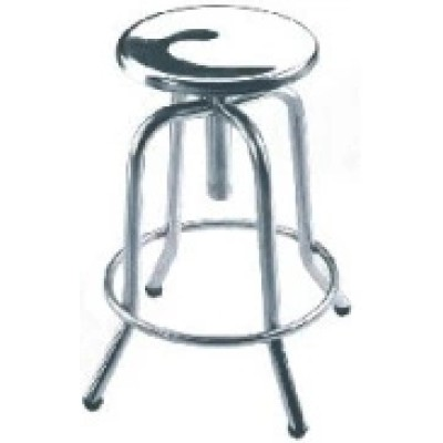 Round Stool/ Stainless Steel Frame.