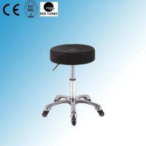 Height Adjustable Chrome Steel Lab Stool (Y-17)