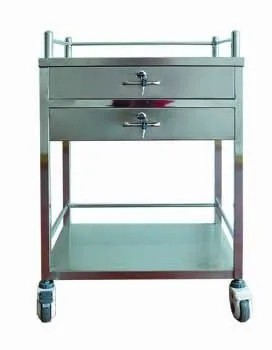 Stainless Steel Hospital Trolley (Q-13)