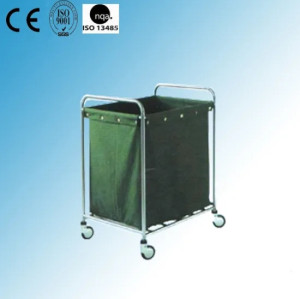 Stainless Steel Hospital Linen Trolley with Canvas Bag (J-6)