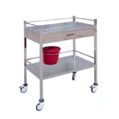 Stainless Steel Hospital Treatment Trolley for Transfusion (Q-7)
