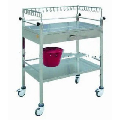 Medical Cart, Stainless Steel Hospital Treatment Trolley (Q-7)
