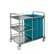 Stainless Steel Hospital Linen Trolley