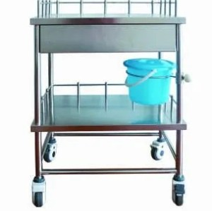 Stainless Steel Hospital Trolley (Q-22)