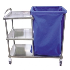 High Quality Mobile Stainless Steel Hospital Linen Trolley