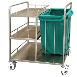 Stainless Steel Hospital Laundry Trolley, Linen Trolley (Q-9)