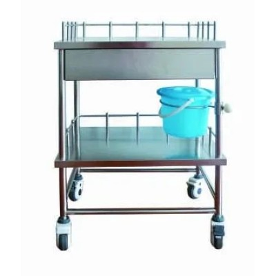 Stainless Steel Hospital Dressing Trolley (Q-8)