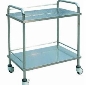 Stainless Steel Hospital Trolley (Q-5)