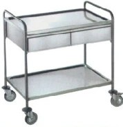 Stainless Steel Hospital Medical Treatment Trolley (Q-20)