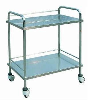2 Shelves Stainless Steel Hospital Instrument Trolley (Q-14)